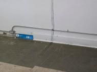 Super-Stratum no.1. Detail view.black tape, oil paint, space.2012