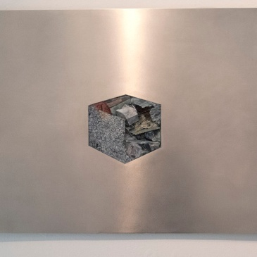 pack diagram. oil paint on aluminum, 91 x 58 cm, 2013