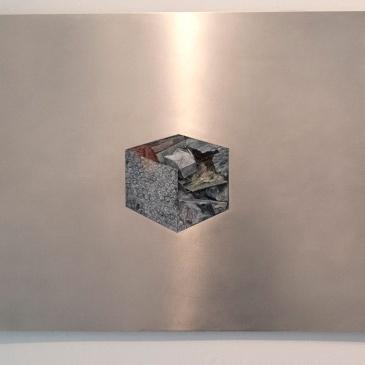 pack diagram. oil paint on aluminum, 91 x 58 cm, 2013
