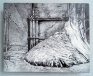 "Sasha Opeiko, Elephant's Foot (217-1), graphite on gessoed aluminum, 2016, 10""x8"""
