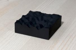 217-1-1, 2017, 3D printed matte black plastic, 6x6x2 cm