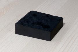 217-1-2, 2017, 3D printed matte black plastic, 6x6x2 cm