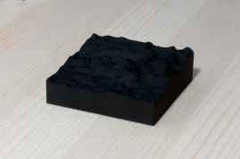217-1-3, 2017, 3D printed matte black plastic, 6x6x2 cm