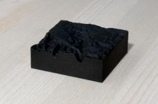 217-1-6, 2017, 3D printed matte black plastic, 6x6x2 cm
