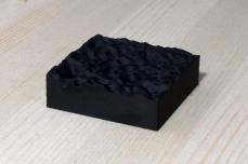 217-1-8, 2017, 3D printed matte black plastic, 6x6x2 cm