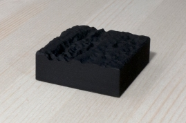 217-1-9, 2017, 3D printed matte black plastic, 6x6x2 cm