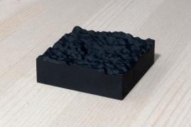 217-1-11, 2017, 3D printed matte black plastic, 6x6x2 cm