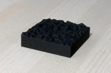 217-14-3, 2017, 3D printed matte black plastic, 6x6x2 cm