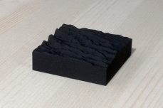 217-14-4, 2017, 3D printed matte black plastic, 6x6x2 cm
