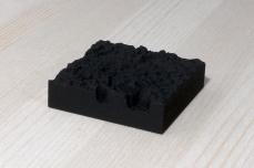 217-5-7, 2017, 3D printed matte black plastic, 6x6x2 cm