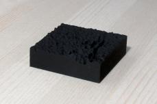 217-5-8, 2017, 3D printed matte black plastic, 6x6x2 cm