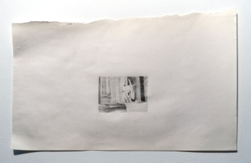 "Objects in Soviet Films 2, 2018, graphite on found paper, Paper: 7"" x 4.5"", Image: 1.5"" x 1"""