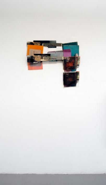 "Obraz, Obrez, Ostatok (1), 2020, 2' x 2' x 4"", Soviet-era objects and materials, inkjet prints on paper and clear fillm."