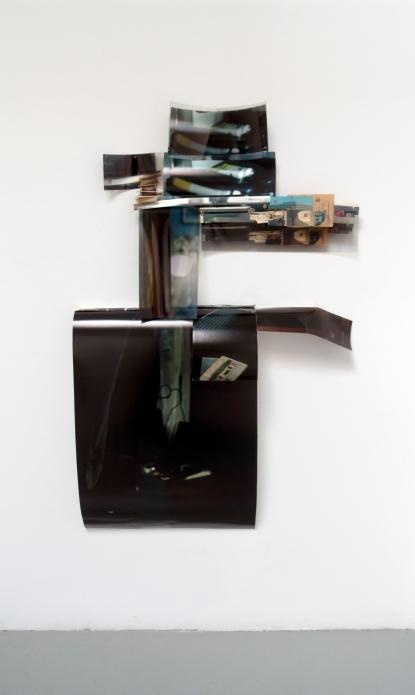 "Obraz, Obrez, Ostatok (2), 2020, 3' x 5' x 5"", Soviet-era objects and materials, inkjet prints on paper and clear fillm."