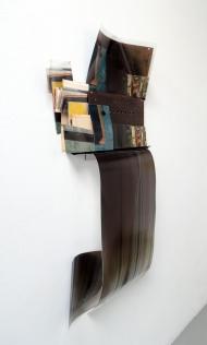 "Obraz, Obrez, Ostatok (5), 2020, 2' x 4' x 3"", Soviet-era objects and materials, inkjet prints on paper and clear fillm."